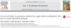 مقاله ترجمه شده هماهنگی در زنجیره تامین با به کارگیری قرارداد تاخیر در پرداخت دو سطحی: مطالعه درباره تقاضای وابسته به مدت تاخیر